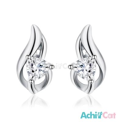 AchiCat 925純銀耳環 知性女神 純銀耳針