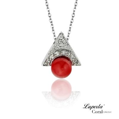 大東山珠寶 全紅珊瑚項鍊墜飾 一炮而紅