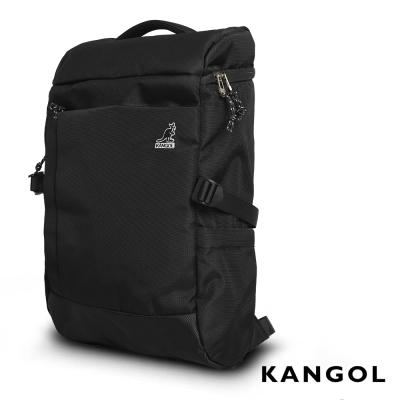 KANGOL-英式學院風商務防盜機能15吋筆電後背包-黑-KG51157