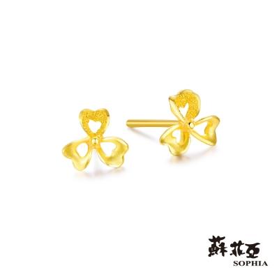 蘇菲亞SOPHIA - G LOVER系列酢醬草黃金耳環