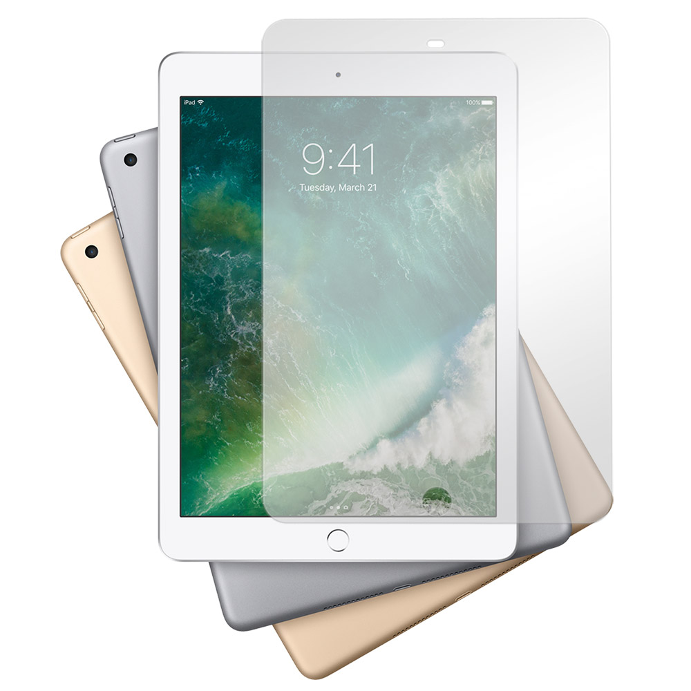 Metal-Slim Apple iPad 9.7(2018) 9H弧邊耐磨防指紋鋼化玻璃