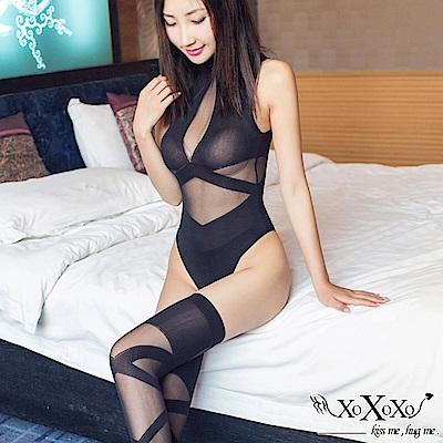 貓裝網衣 極速誘惑大腿絲襪連身貓裝 挑逗黑 XOXOXO