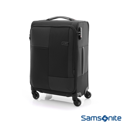 Samsonite新秀麗 20吋Cubix超輕量幾何四輪布面登機箱(黑)