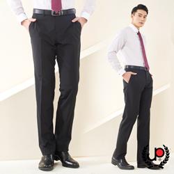 極品西服-細緻品味素面羊毛平面西褲_黑(BS601-1)