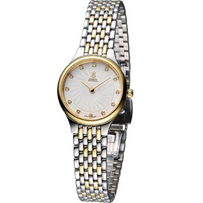 E.BOREL 依波路 星宇系列仕女腕錶-銀白x雙色版/24.5mm