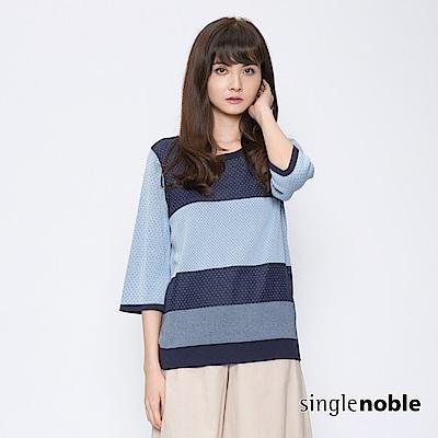 獨身貴族 寧夏波卡配色圓點針織衫(2色)