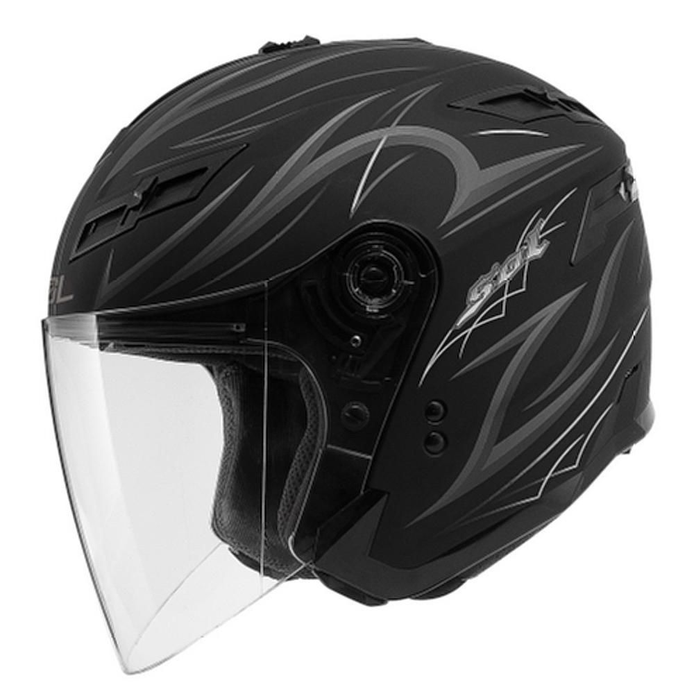 SOL SO-1 DERK II 3/4開放式安全帽(消光黑銀)
