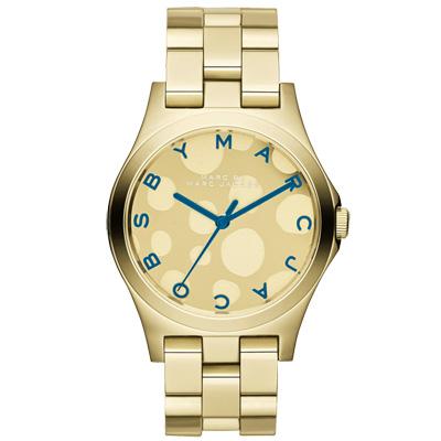 MARC By Marc Jacobs 繽紛幾何點點時尚腕錶-金/36mm