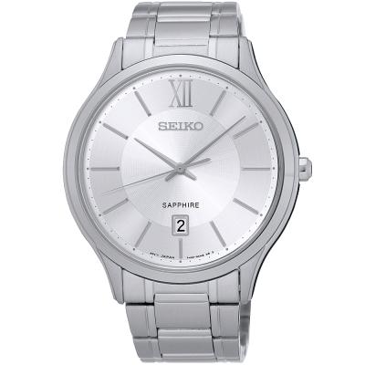 SEIKO CS簡約質感時尚腕錶(SGEH51P1)-銀/42mm