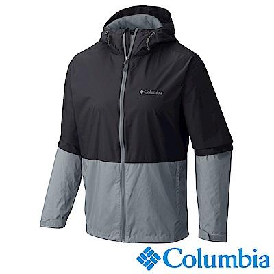 Columbia 哥倫比亞 男款-防潑風衣連帽外套-深灰 (URE30810DY)