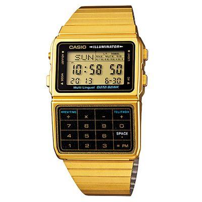 CASIO 復古經典數位計算機錶(DBC-611G-1A)-金色/44.2mm