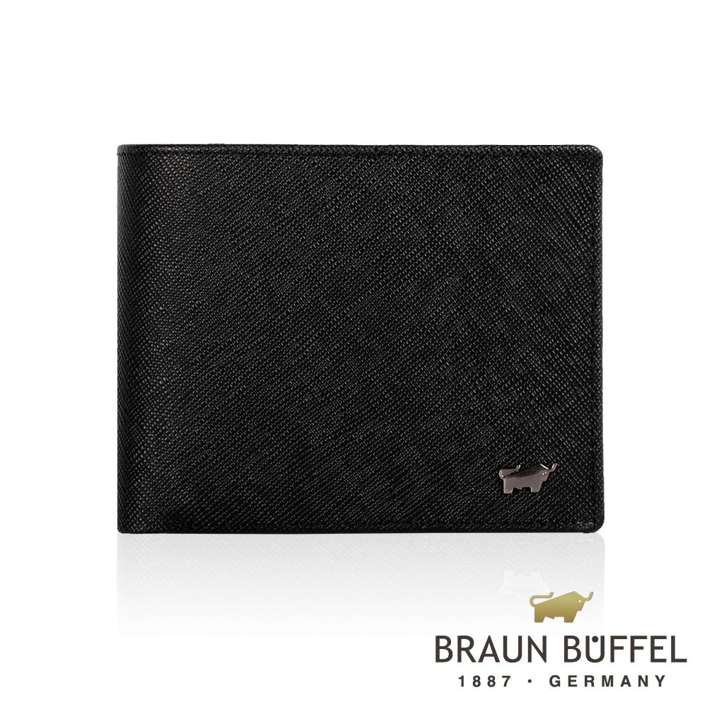 BRAUN BUFFEL - 洛非諾III系列5卡窗格皮夾 - 經典黑