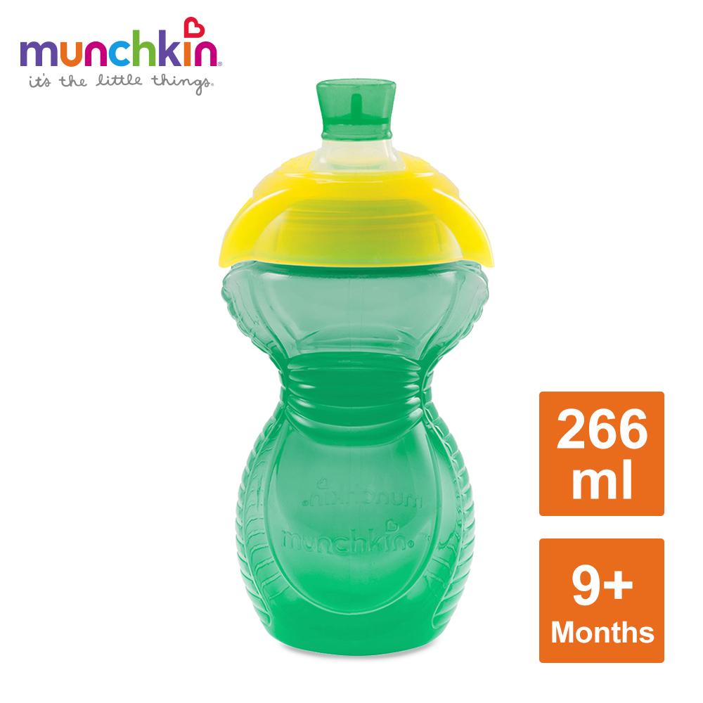 munchkin滿趣健-貼心鎖鴨嘴防漏杯266ml-綠