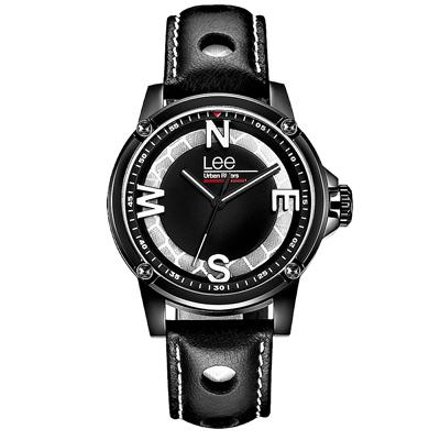 Lee  玩色方向感時尚腕錶-LES-M14DBL1-17/40mm