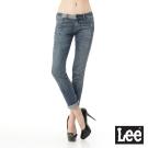 Lee 101+ 牛仔褲 403 超低腰拼接合身窄管 -女款-中漂藍