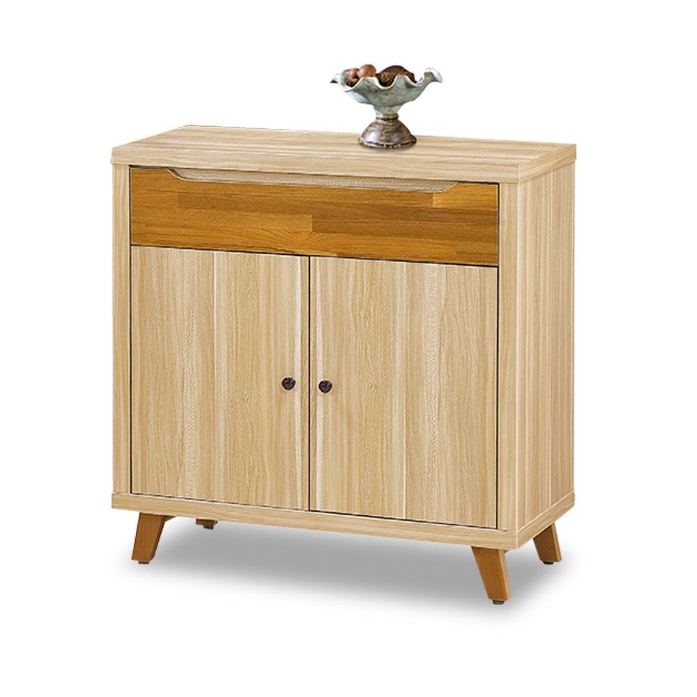時尚屋瑪莎栓木色2.7尺收納餐櫃 寬80x深40x高84cm