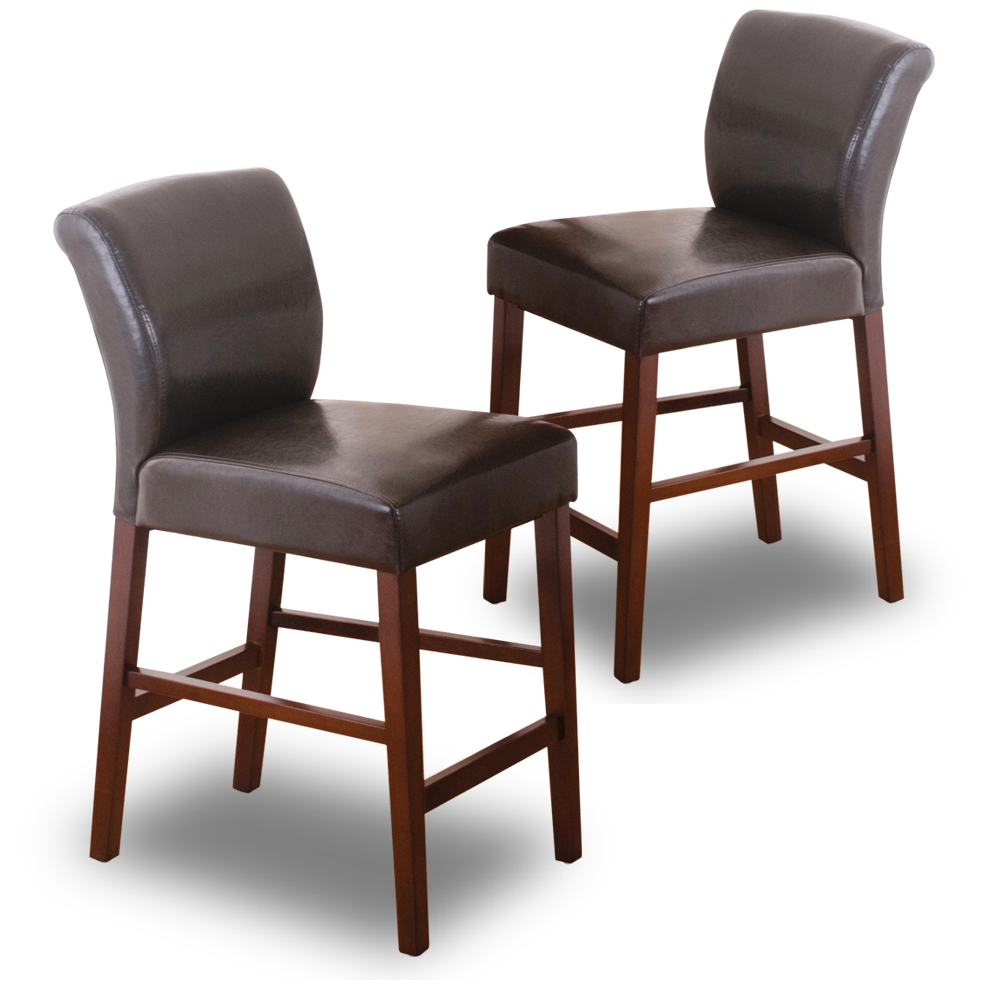 Bernice-艾倫實木高背吧台椅/高腳椅(二入組合)-42x56x91cm