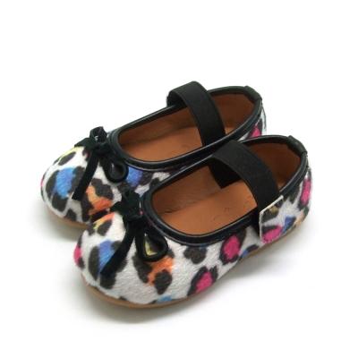 天使童鞋-D377 秋冬絕美豹紋親子鞋(小童)-彩色紋