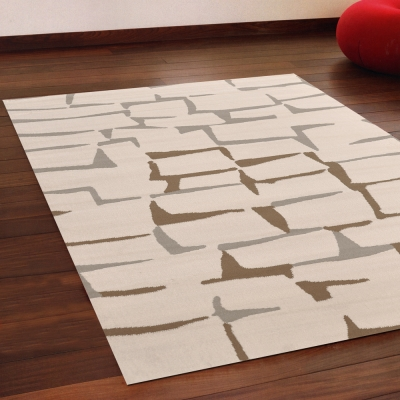 Ambience 比利時Shiraz 現代地毯--磚牆(米色) (160x230cm)