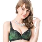 思薇爾 爵戀華爾滋系列C-F罩刺繡蕾絲包覆內衣(杜松綠)