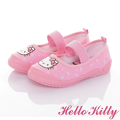 HelloKitty 牛仔系列 輕量抗菌防臭室內外娃娃童鞋-粉