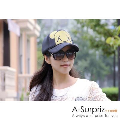 A-Surpriz 金色小熊棒球帽(黑)