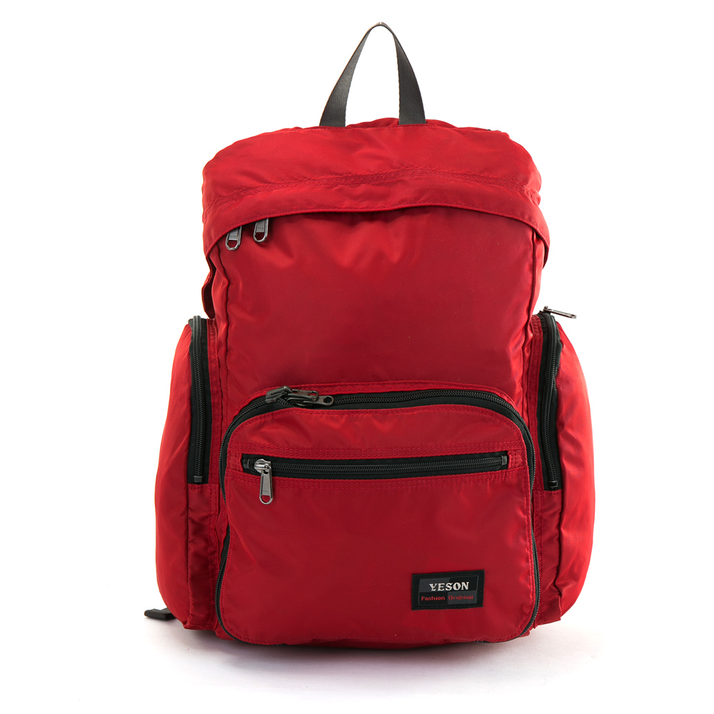 YESON - 商旅輕遊可摺疊式大容量後背包-紅