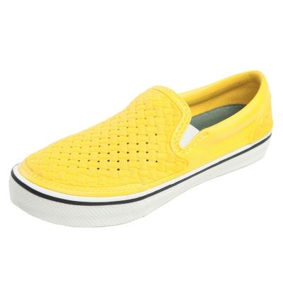 (男/女)Ponic&Co美國加州環保防水編織懶人鞋-黃色