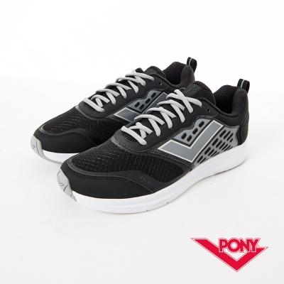 PONY 男_Power Run系列_動能機能慢跑鞋_黑