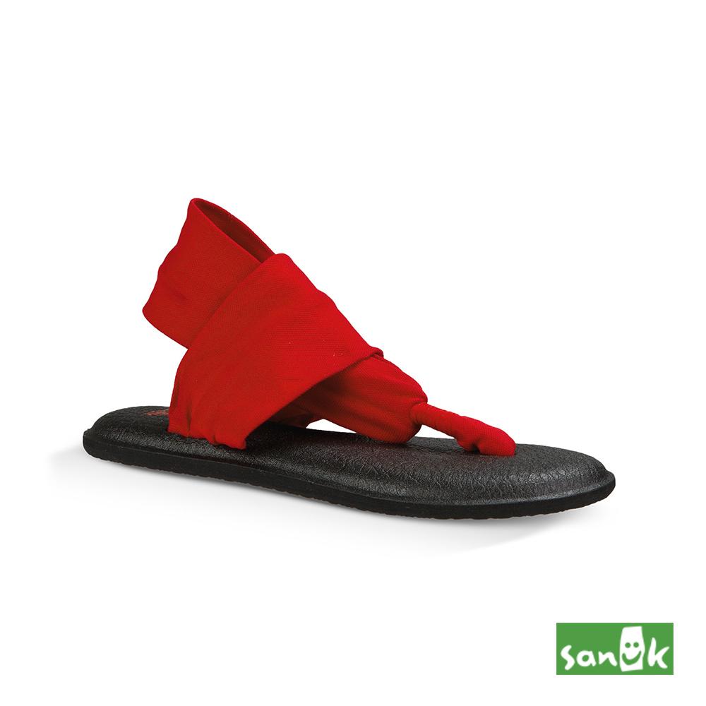 SANUK 素面綁帶人字涼鞋-女款(紅色)SWS10001 BHTR