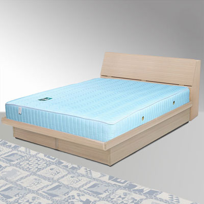 Homelike 諾雅5尺掀床組+獨立筒床墊-雙人(二色任選)