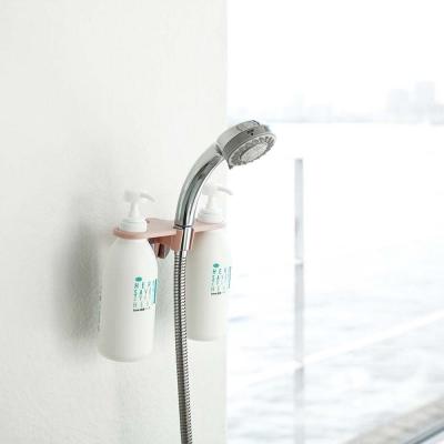 【YAMAZAKI】MIST蓮蓬頭圓孔瓶罐收納架-粉★衛浴收納/居家收納/置物架