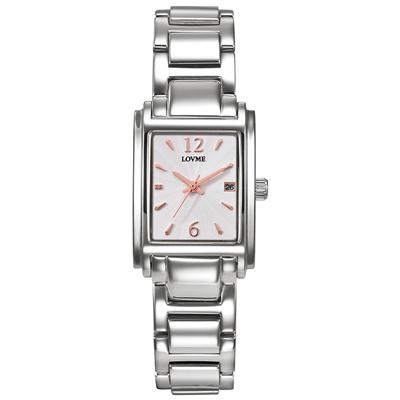 LOVME Delicate時尚腕錶-白x玫/23mm