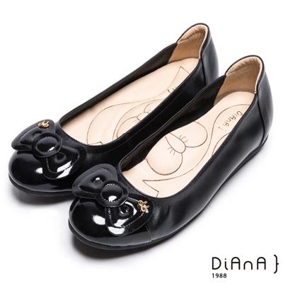 DIANA-漫步雲端蝴蝶結款-俏麗蝴蝶結真皮娃娃鞋