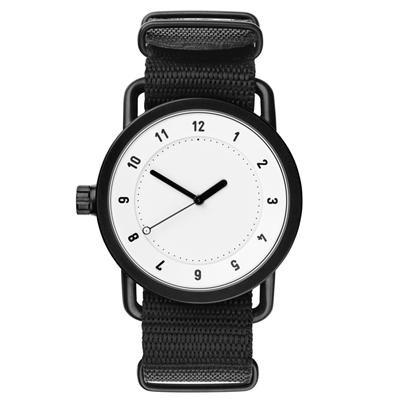 TID Watches No.1 White 白x經典尼龍帶腕錶-40mm