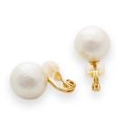 JewCas Cotton Earing系列棉珍珠空氣耳環_JC1682-12mm