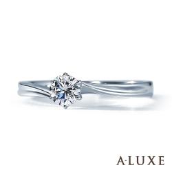 A-LUXE 亞立詩鑽石 求婚戒 18K金 0.30克拉