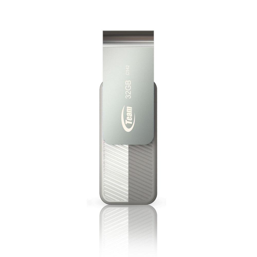 Team十銓科技 C142  32GB隨身碟  時尚百炫碟-絲綢白