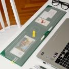 PLEPIC 辦公收納瘦長版皮革滑鼠墊-森林綠