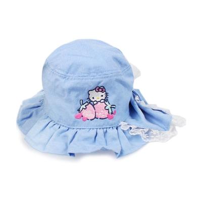 Sanrio HELLO KITTY小童用棉質花邊防曬帽(草莓)