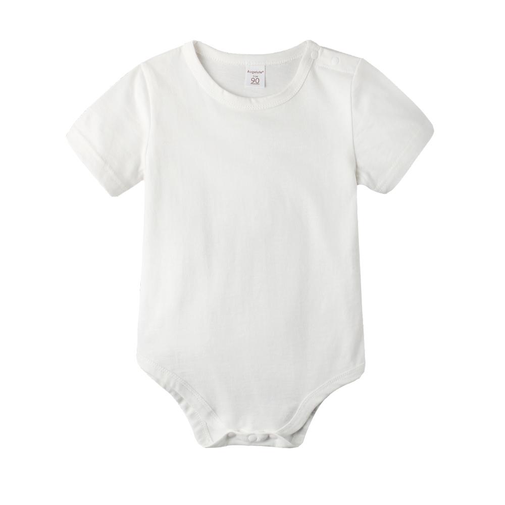 baby童衣 寶寶包屁衣 短袖純棉素面圓領包屁衣61118 product image 1
