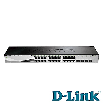 D-Link 24埠 Gigabit 智慧型網管交換器 DGS-1210-28