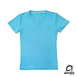 【ANCKO-USA】潮牌聯名抗UV瞬間涼感衣女款-藍
