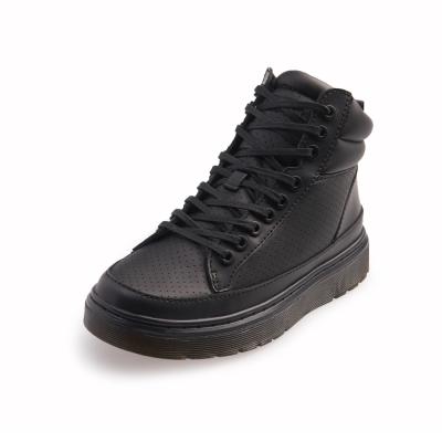 Dr.Martens LAMAR-厚底綁帶短筒球鞋-女款-黑色