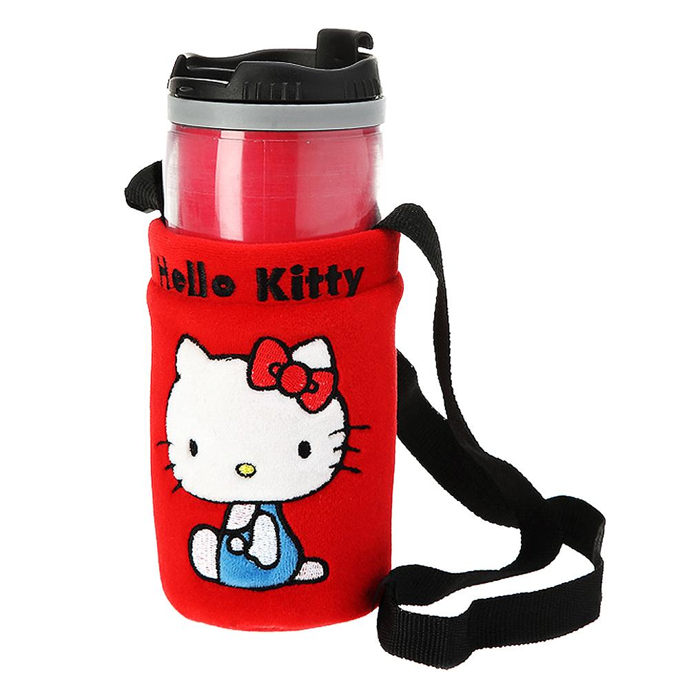HELLO KITTY 兜風紅系列-掛袋式隨身杯