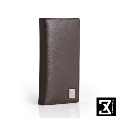 74盎司 Cross 十字紋真皮長夾(零錢袋)[N-554]咖啡