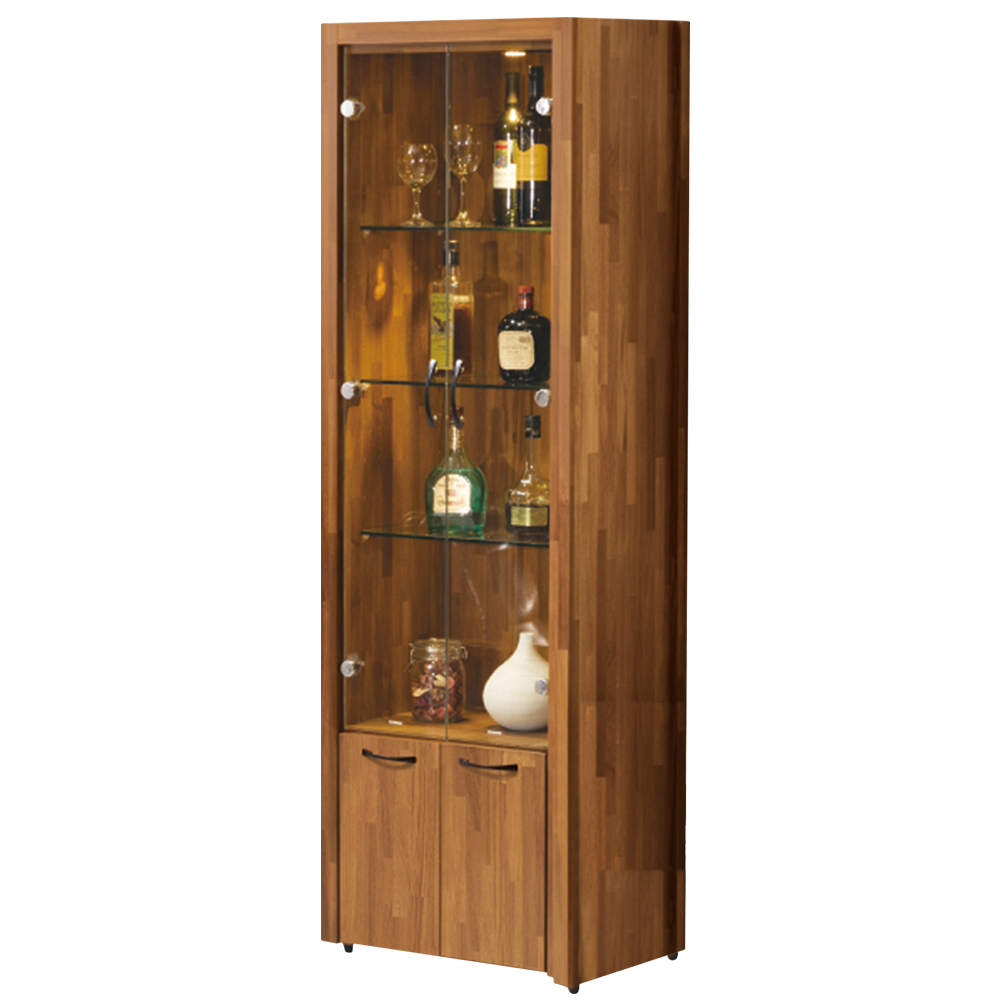 Bernice-薩爾2尺四門展示櫃/收納櫃-60x40x184cm