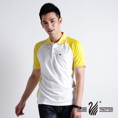 【遊遍天下】男款抗UV吸濕排汗機能POLO衫NS004黃