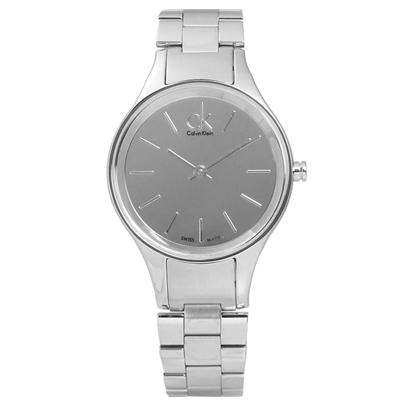 CK-品味生活鏡面不鏽鋼女錶-銀色-27mm