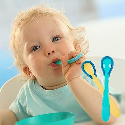 兩隻裝嬰兒感溫變色勺湯匙防燙勺 (2組裝)